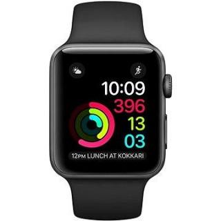Apple Watch Series 1 42mm Vesmírne šedý hliník s čiernym športovým remienkom