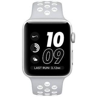 21bcca787 Apple Watch Series 2 Nike+ 42 mm Strieborný hliník s matnestrieborným/bielym  športovým remienkom Nike