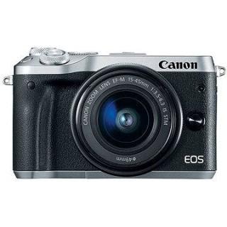 Canon EOS M6 strieborný + EF-M 15–45 mm