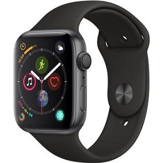 Apple Watch Series 4 44mm Vesmírne čierny hliník s čiernym športovým remienkom