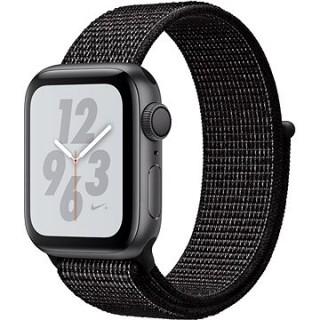 Apple Watch Series 4 Nike+ 40mm Vesmírne čierny hliník s čiernym prevliekacím športovým remienkom Nike