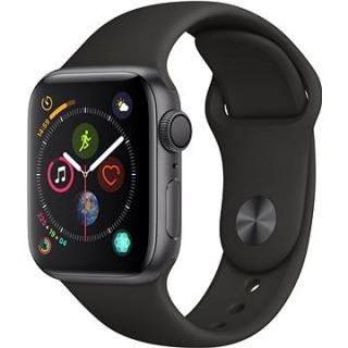 Apple Watch Series 4 40mm Vesmírne čierny hliník s čiernym športovým remienkom