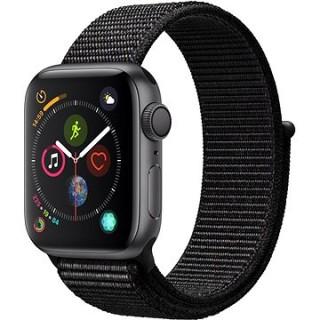Apple Watch Series 4 40mm Vesmírne čierny hliník s čiernym prevliekacím športovým remienkom