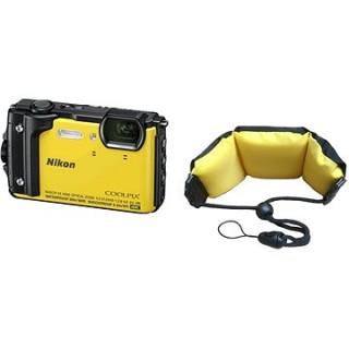 Nikon COOLPIX W300 žltý + 2 v 1 plávajúci popruh