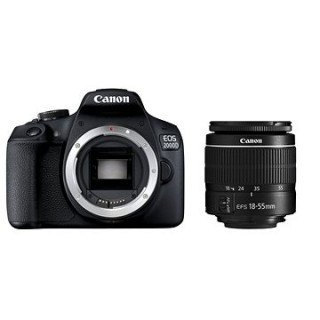 Canon EOS 2000D + 18–55 mm DC III
