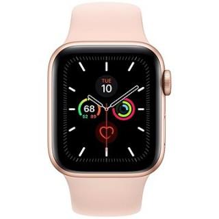 Apple Watch Series 5 40 mm Zlatý hliník s pieskovo ružovým športovým remienkom