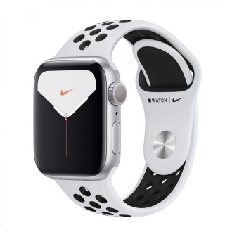 Apple Watch Nike Series 5 GPS, 40mm Silver Aluminium Case with Pure Platinum/Black Nike Sport Band/rozbaleno