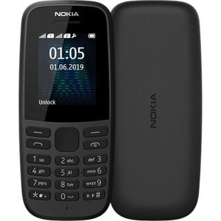 Nokia 105, 2019, Single SIM, čierny - otvorené balenie