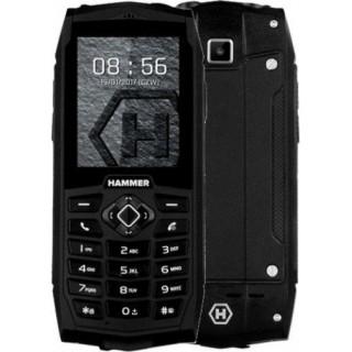 Odolný tlačidlový telefón myPhone Hammer 3, čierna