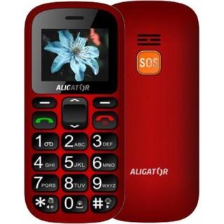 Mobilný telefón Aligator A321 Senior, červený