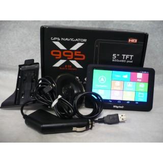 Navigačný prístroj WAYTEQ X995 Držiak, auto nabíjačka kr.,